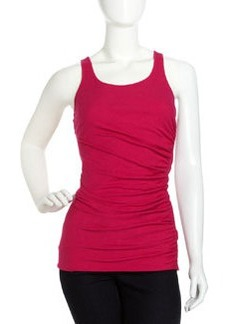 Isda & Co Long Ruched Tank, Hot Pink