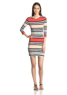 French Connection Women's Multi Jag Stripe Dress