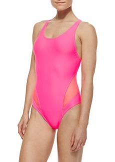 Juicy Couture Spliced-Racerback Maillot Swimsuit
