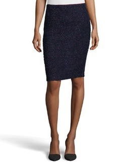 Lafayette 148 New York Gemma Tweed Pencil Skirt, Majestic Multi