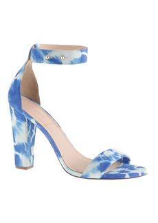 Lanie tie-dye stacked-heel sandals