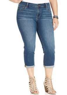 Lucky Brand Plus Size Ginger Cropped Jeans, Wright Wash