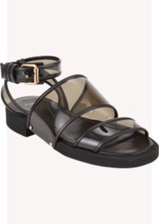 Givenchy Transparent Double-Band Ankle-Strap Sandals