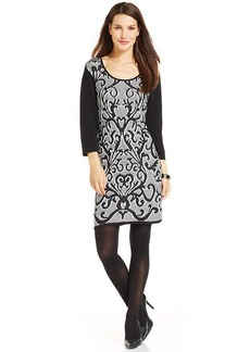 Style&co. Scroll-Print Sweater Dress