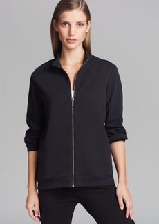 Joan Vass Zip Front Moto Jacket