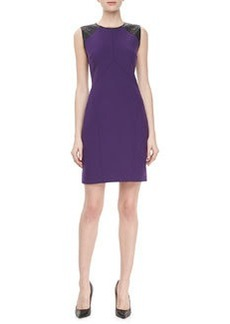 JASON WU Quilted Leather Combo Sheath, Violet/Black
