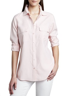 Go Silk Safari Long-Sleeve Silk Shirt, Women's