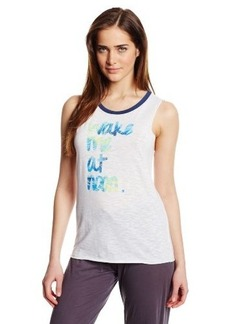 Steve Madden Women's Wake Me At Noon Graphic Tank
