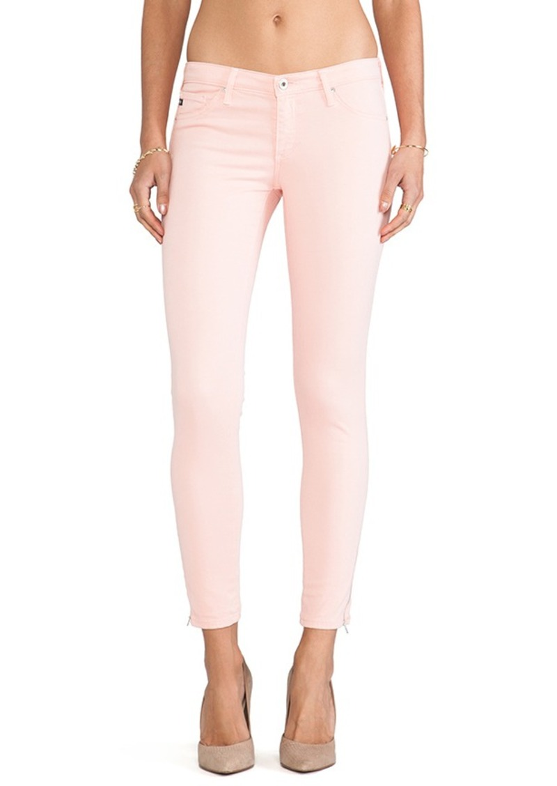 AG Adriano Goldschmied The Legging Ankle Zip in Pink