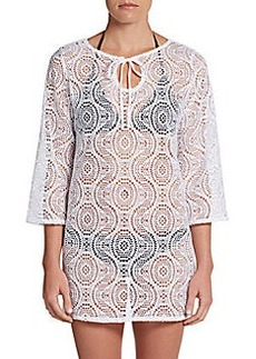 Laundry by Shelli Segal Macram? Crochet Cover-Up Tunic