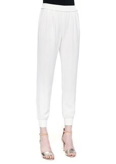 Joie Mariner Cropped Pull-On Pants, Porcelain