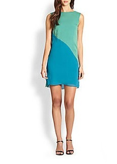 Elie Tahari Vanessa Sleeveless Colorblock Dress