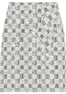 Derek Lam Wrap-effect tweed skirt