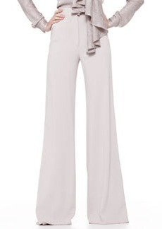 Zac Posen High-Waist Wide-Leg Trousers, Gray