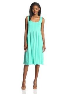Jones New York Women's Pleated-Front Tank Dress