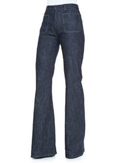 Derek Lam High-Waist Wide-Leg Jeans, Indigo