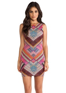 Mara Hoffman Slit Back Mini Dress in Pink
