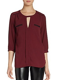 French Connection Polly Hi-Lo Blouse