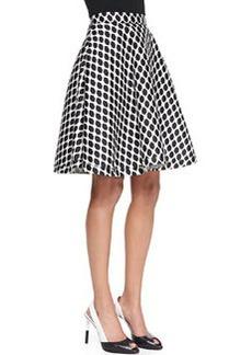 Diane von Furstenberg Amelia Mikado Diamond-Print Skirt