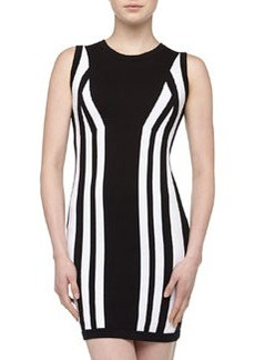 Susana Monaco Mirrored Contrast Sweaterdress, Black/White
