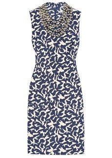 Diane von Furstenberg Noralie embellished printed twill dress