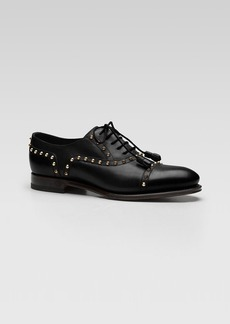 Gucci Linley Lace Up Studded Oxford