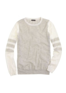 Collection featherweight cashmere long-sleeve tee in varsity stripe