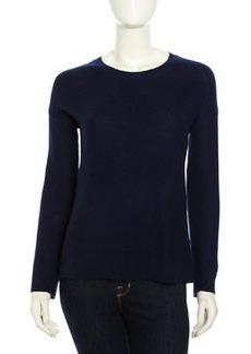 Joie Mosselle Long-Sleeve Soft Knit Sweater, Dark Navy