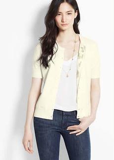 Lemon Print Lined Short Sleeve Ann Cardigan