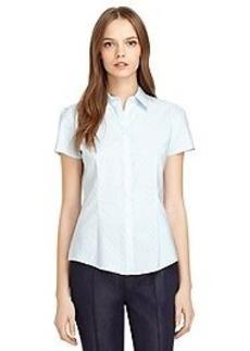 Tailored Fit Swiss Dot Shirt