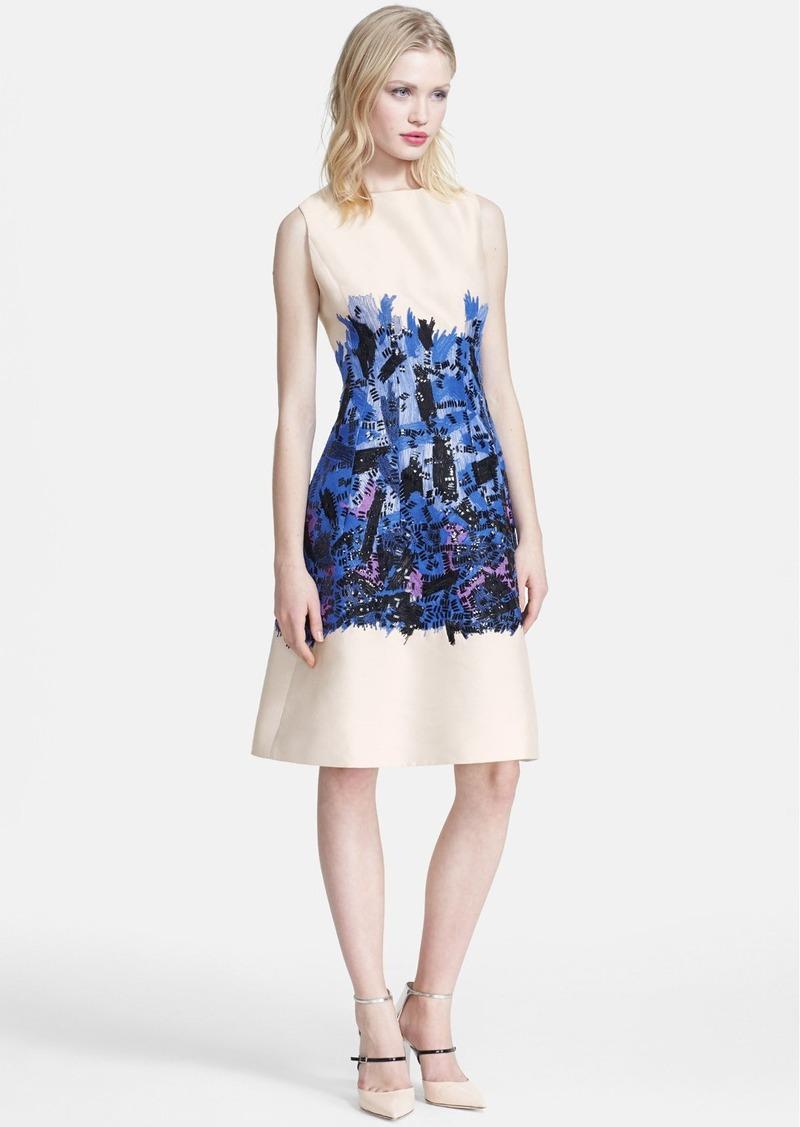 Lela rose embroidered full skirt dress dresses