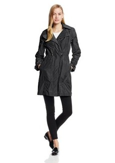 Kenneth Cole New York Women's Cinch-Waist Anorak Raincoat