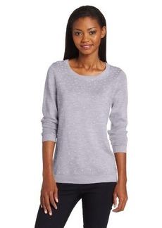 Calvin Klein Women's Scatter-Pearl Sweater