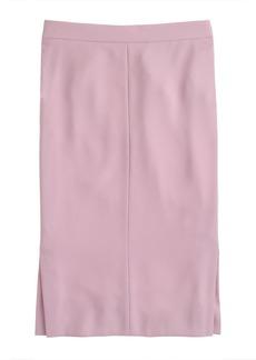 Side-slit soft pencil skirt
