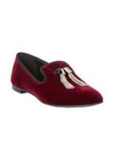 Giuseppe Zanotti Rhinestone Tassel Velvet Loafers