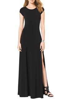 MICHAEL Michael Kors Cap-Sleeve Slit Maxi Dress