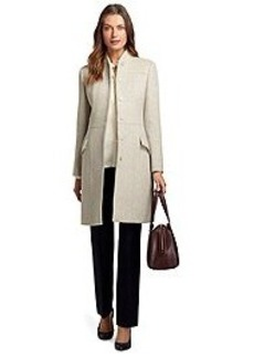 Wool and Cashmere Stand Collar Coat