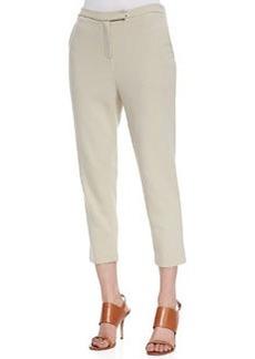 Joan Vass Ponte Knit Capri Pants, Petite