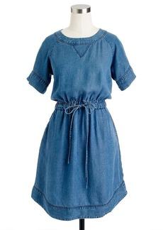 Lightweight washed chambray dress