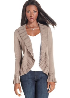 Style&co. Ruffle Pointelle-Knit Cardigan
