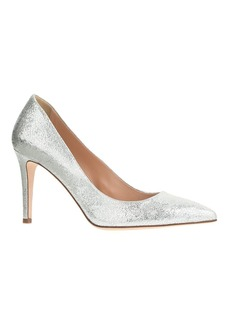 Everly crackled metallic leather pumps