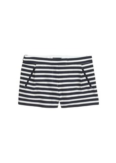 Textured stripe short in navy