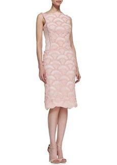 Tadashi Shoji Sleeveless Lace & Sequin Pattern Cocktail Dress, Antique Pink
