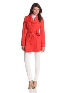 Via Spiga Women's Women's Water-Resistant Single-Breasted Trench Coat