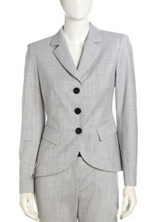 Lafayette 148 New York Kinsley Fitted Long-Sleeve Jacket, Gray
