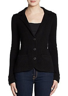 Saks Fifth Avenue BLACK Cashmere Three-Button Blazer