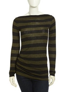 James Perse Camper Long Sleeve Striped Top