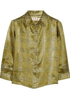 Marni Checked metallic jacquard shirt