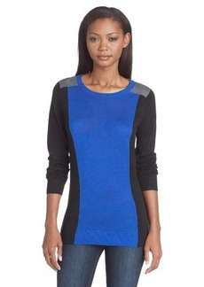 Calvin Klein Women's Color-Block Pullover Sweater