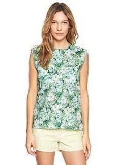 Tropical floral pocket shirt